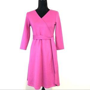 Lands End + Pink Knit Wrap Dress